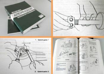 Reparaturanleitung Suzuki Swift SF416 GLX + 4WD Allrad Werkstatthandbuch 1989