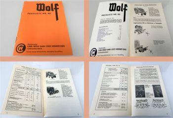 Wolf Anbaugeräte Wender Roder Ladewagen ... Preisliste 80 ab 196
