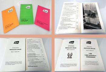 Bautz Erntemaschinen Mähdrescher 3 Preislisten EM651/661 MD652 1964/65