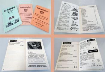 Lely Dechentreiter Landmaschinen 3 Preislisten ab 1963 / 1966