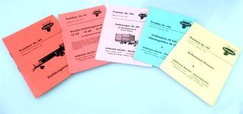 Welger Anbaugeräte 5 Preislisten Nr 85 - 102 1960 - 64
