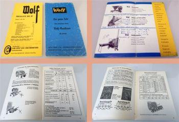 Wolf Anbaugeräte Wender Roder Ladewagen ... Preisliste Nr. 81 ab