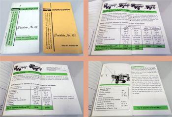 Kemper Landmaschinen 2 Preislisten Nr. 116, 123 1963/1968
