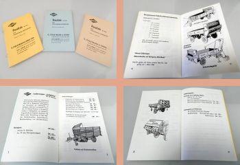 BSL Strautmann Landmaschinen 3 Preislisten 1965/66