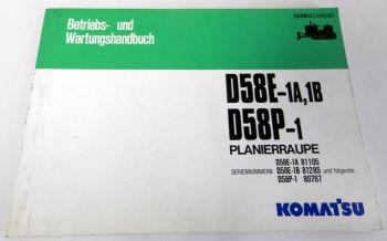 Betriebsanleitung Komatsu D58E-1A/1B D58P-1 Planierraupe Wartung