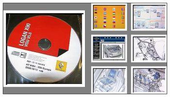 Werkstatthandbuch Dacia Logan ab 27.09.2010 Elektrische Schaltpläne DVD