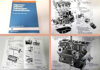 Reparaturleitfaden VW 068.2, 068.5 + 068.A Dieselmotor Werkstatthandbuch 1985