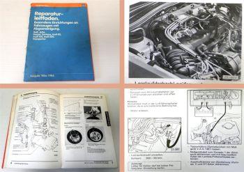 Reparaturleitfaden Audi 80 90 VW T3 Golf 2 GTI Passat B2 32B Abgasreinigung 1984