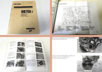 Werkstatthandbuch Komatsu WB70A-1 Backhoe Loader Shop Manual 2001