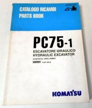 Ersatzteilkatalog Komatsu PC75-1 Hydraulic Excavator Parts book 1997