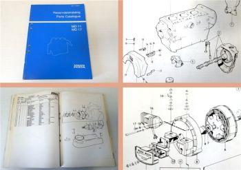 Ersatzteilkatalog Volvo Penta MD11 MD17 Parts Catalogue 1984