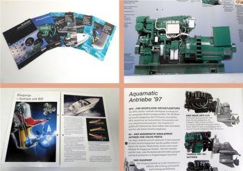 5 Prospekte Volvo Penta Dieselmotoren Boote Programm, Serie MD2000/MD22 1993-97