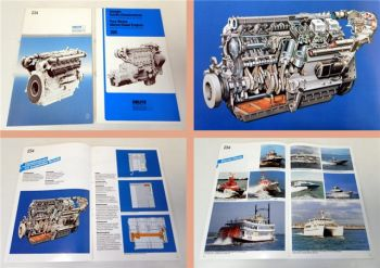 Deutz 234, 226 Schiffsdieselmotoren 2 Prospekte 1988/89