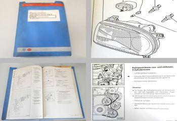 Reparaturleitfaden VW Golf 3 + Cabrio Elektrische Anlage Werkstatthandbuch 1999