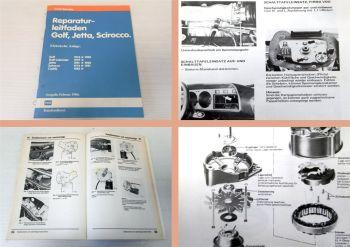 Reparaturhandbuch VW Golf 1 GTI Cabrio Elektrische Anlage Anlasser Instrumente