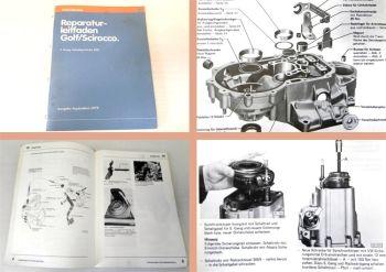 Reparaturleitfaden VW Golf 1 Scirocco 5Gang Schaltgetriebe 020 Werkstatthandbuch