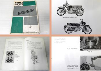 Werkstatthandbuch Honda 250 350 Typ C/CB/CS 72/77 Reparaturanleitung 1963
