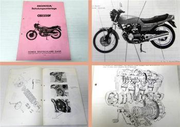Werkstatthandbuch Honda CBX550F Schulung 1982