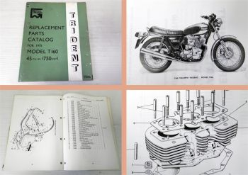 Ersatzteilkatalog Norton Triumph Trident T160 for 1975 Parts Catalog