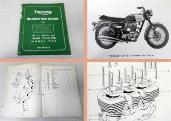 Ersatzteilkatalog Triumph Trident T150 1970 Parts Catalogue