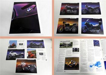 Prospekt BMW Motorräder 1990 inkl. 9 Einblatt Prospekte