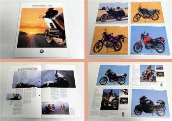 Prospekt BMW Motorcycles 1991 inkl. 8 Einblatt Prospekte