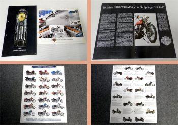 2x Harley Davidson Gesamtprogramm 1989/1990