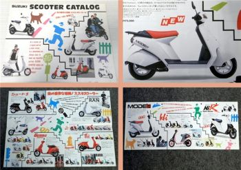 Suzuki Scooter Catalog Prospekt ca 1980