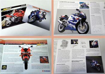 Suzuki GSX-R750 TL1000S Motorrad 2 Prospekte 1998/99