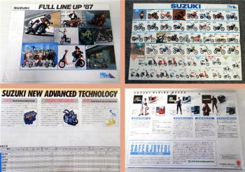 Suzuki Full Line Up 1987 Motorrad Gesamtprogramm Prospekt