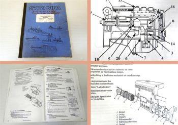 Betriebsanleitung Scania DS9 DSI9 Schiffsmotor Wartung 1994