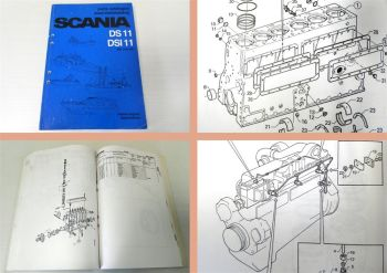 Ersatzteilkatalog Scania DS11 DSI11 marine engines parts catalog