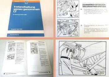 Reparaturanleitung VW LT 1 1976-85 Instandhaltung Inspektion Werkstatthandbuch