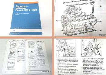 Werkstatthandbuch VW Passat 32B Reparaturleitfaden 1,3 1,6 1,8 Vergasermotor 88