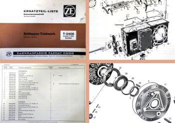 ZF T-3406 T3406 ErsatzteillisteTriebwerk Schlüter