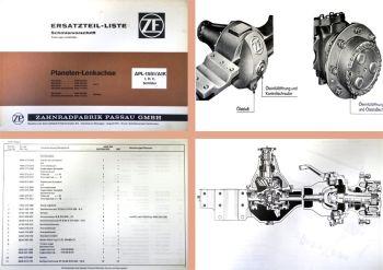 ZF APL-1551 APL1551 A1K Ersatzteilliste Lenkachse IHC Schlüter