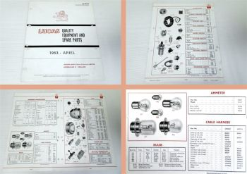 Ariel Motorcycles 1963 Lucas Quality Equipment and Spare Parts L