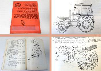 Zetor 6745 6748 Bedienung Ersatzteilliste Werkstatthandbuch Ergänzung