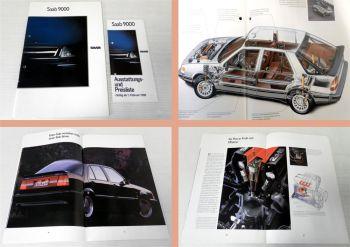 Saab 9000 Prospekt und Preisliste 1989/90