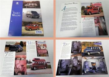 Dodge Family Wagons 1990 Prospekt brochure