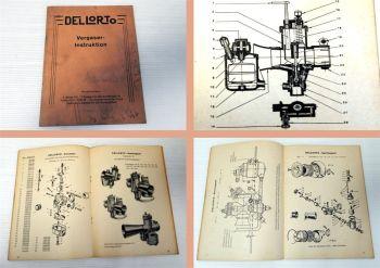 Betriebsanleitung Dellorto Sport- und Rennvergaser Bedienung Ers