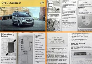 Opel Combo D Bedienungsanleitung & Wartung 8/2012 Betriebsanleitung