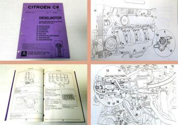 Werkstatthandbuch Citroen C8 DW12TED4 2.2 l Diesel Motor Reparaturanleitung 2002