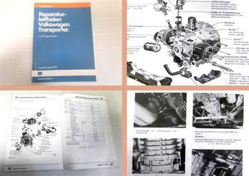 Reparaturleitfaden VW Transporter T3 1,6l  Wekstatthandbuch Vergasermotor