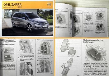 Betriebsanleitung Opel Zafira B Bedienung Pflege & Instandhaltung 01/2014