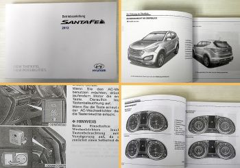 Betriebsanleitung Hyundai Santafe Santa Fe Bedienung & Instandhaltung 2012