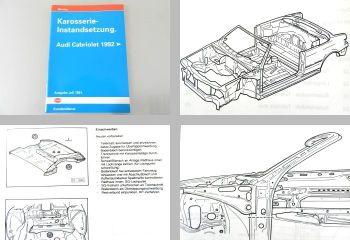 orig. VAG Reparaturleitfaden Audi Cabriolet ab 1992 Karosserie Instandsetzung