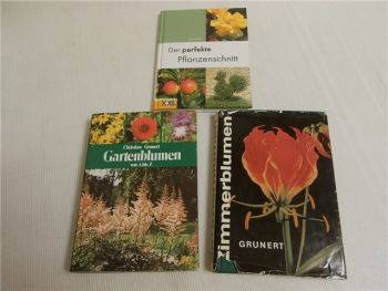 Pflanzenschnitt, Gartenblumen, Zimmerblumen 3 Bücher 1966-2006