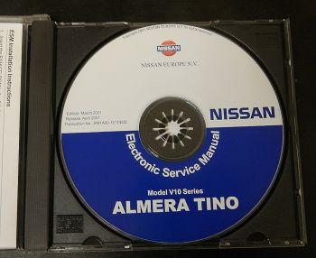 orig. Werkstatthandbuch Nissan Almera Tino V10 Reparaturanleitung  CD 2001