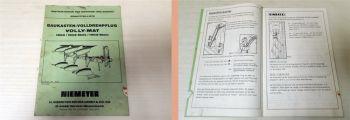 Niemeyer 1503/Mais 1503-Stein Volly-Mat Betriebsanleitung Ersatz